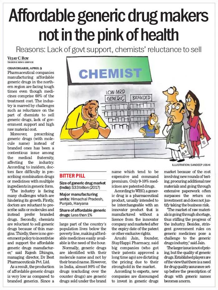 Affordable generic drug makers
